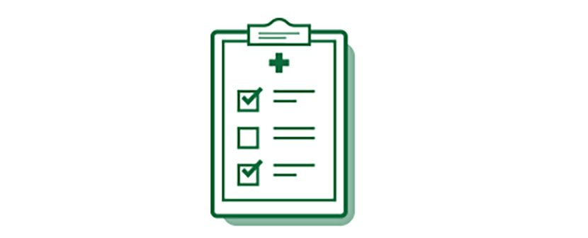Medical checklist icon of cataract surgery options